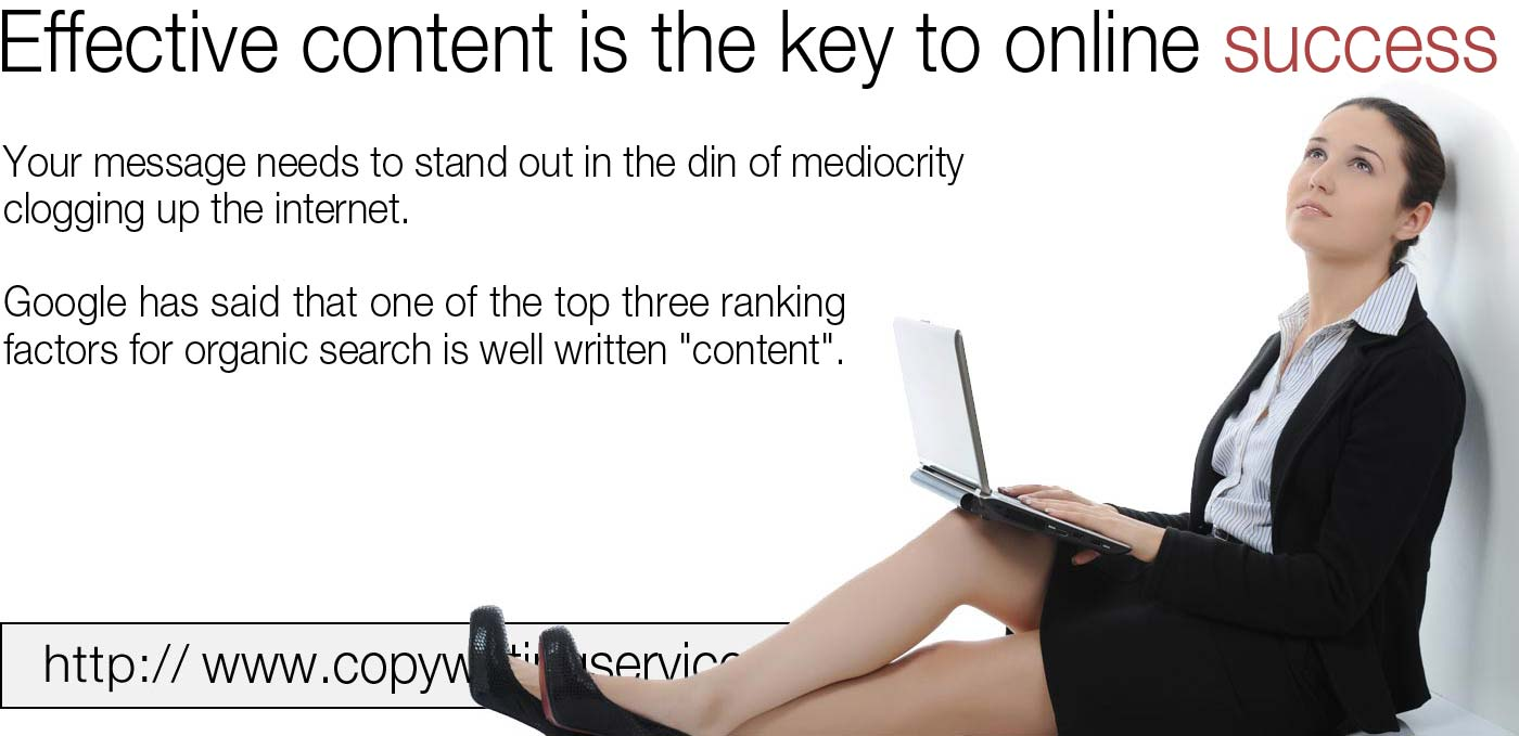It takes more than good words for the internet, the SEO and structure must be correct.